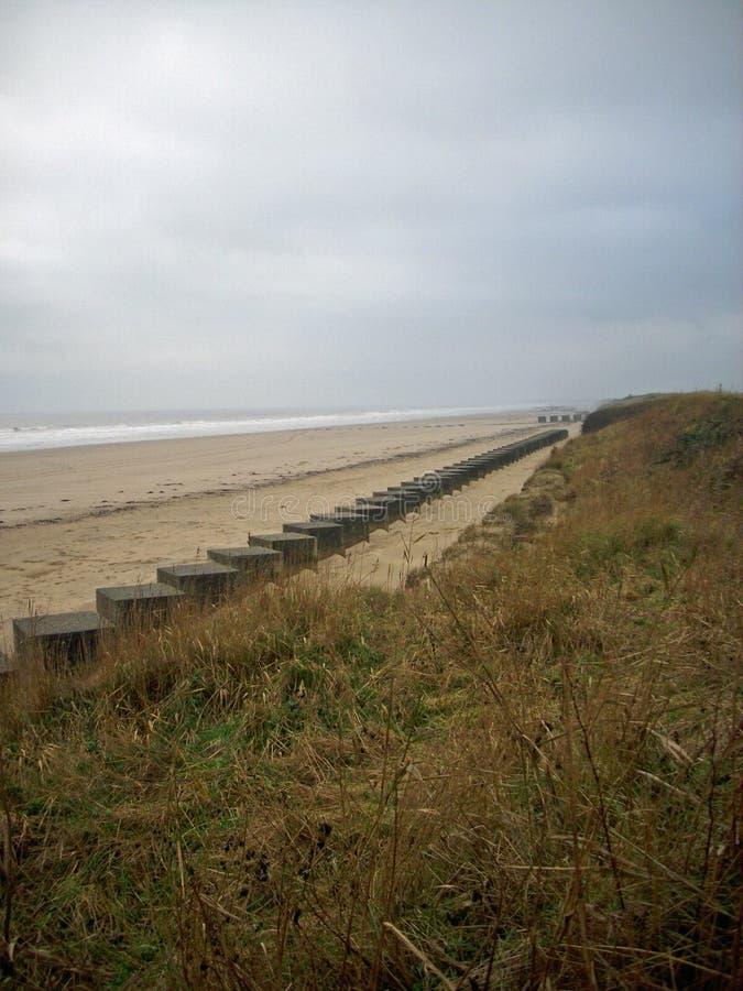 Wojny Światowa Dwa zbiornika plażowi oklepowie obraz stock