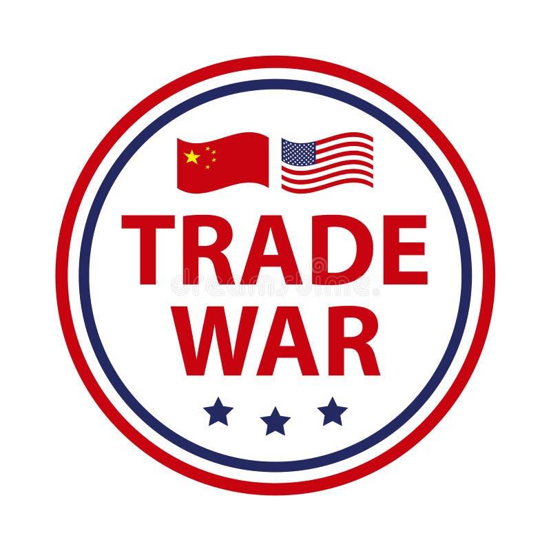 Wojny handlowej wiadomość, usa versus Chiny Chiny taryfowy biznesowy globalny wekslowy zawody międzynarodowi ilustracji