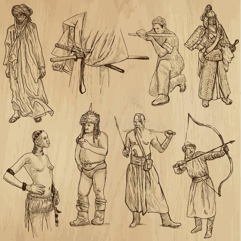 Wojownicy no.6 royalty ilustracja