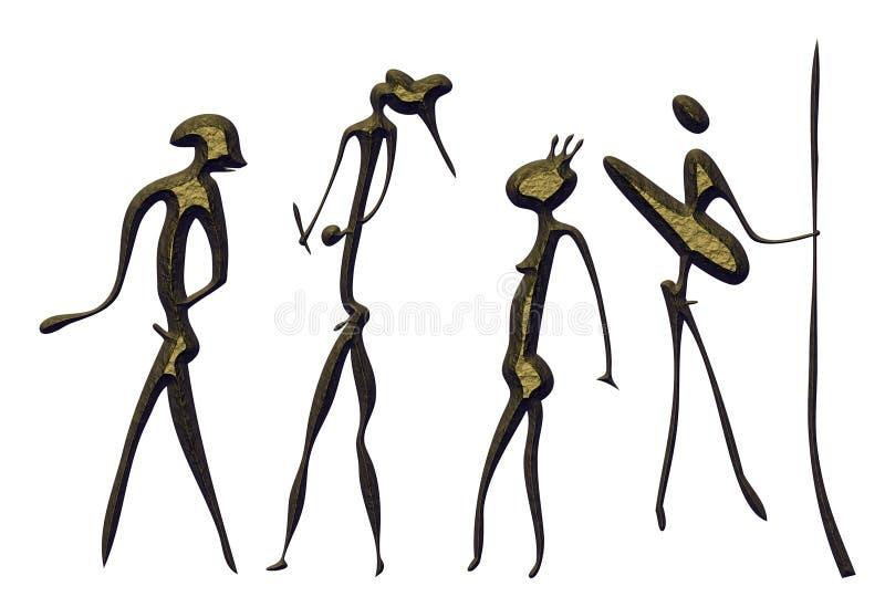 Wojownicy - pierwotna sztuka ilustracji