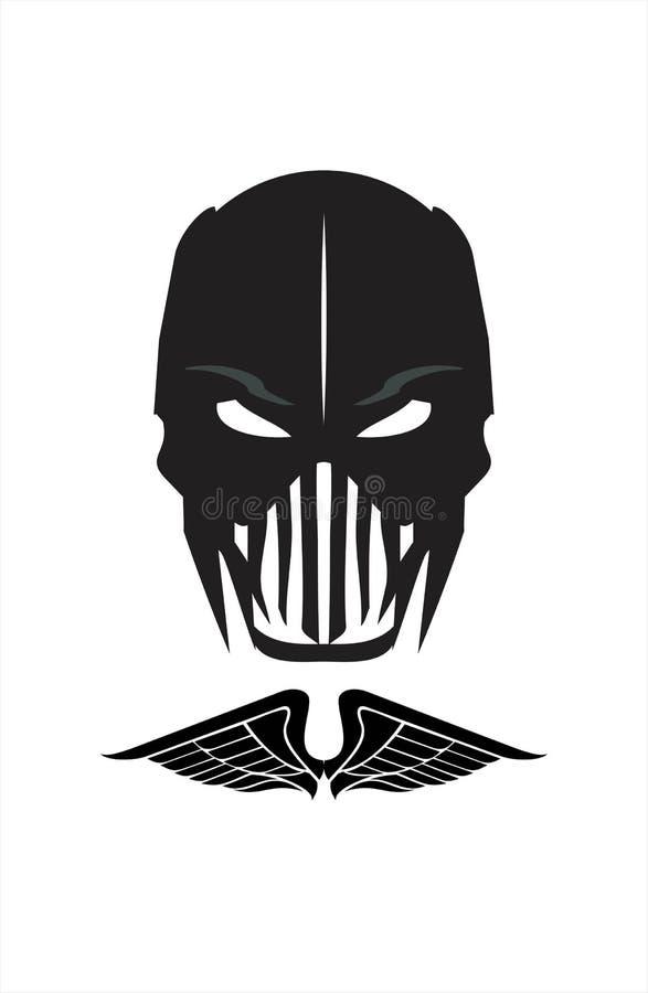 wojownik czarna maska horror demonetyzacja ilustracja wektor