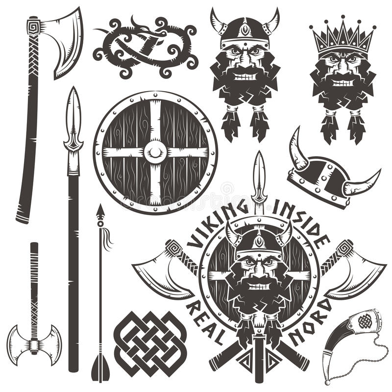 Wojownik głowa royalty ilustracja