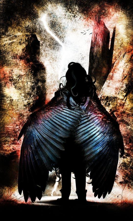 wojownik oskrzydlony ilustracja wektor