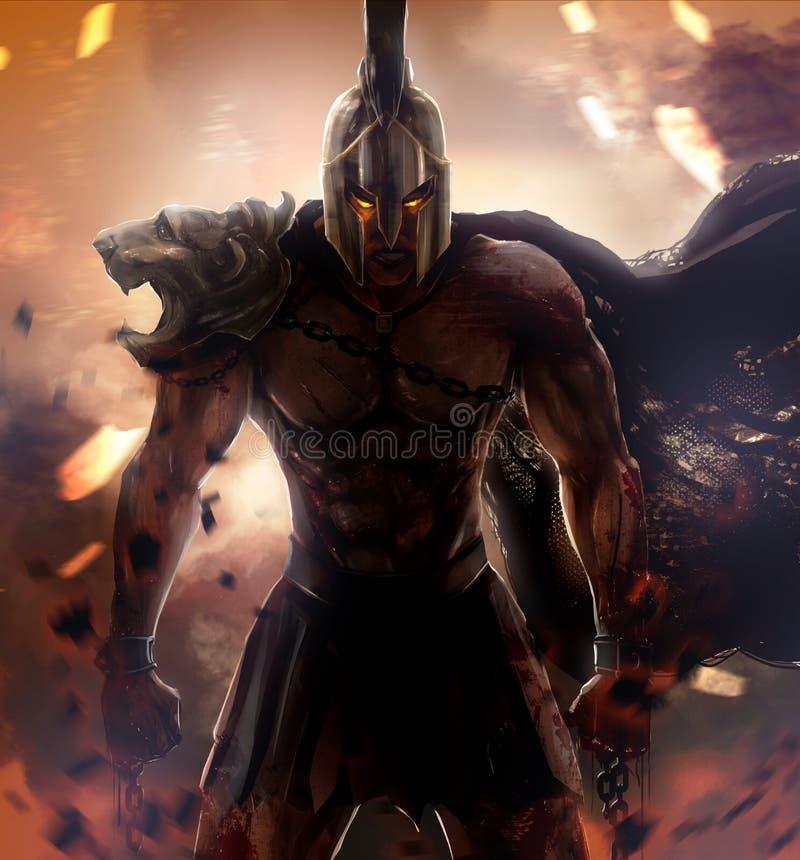 wojownik spartan royalty ilustracja