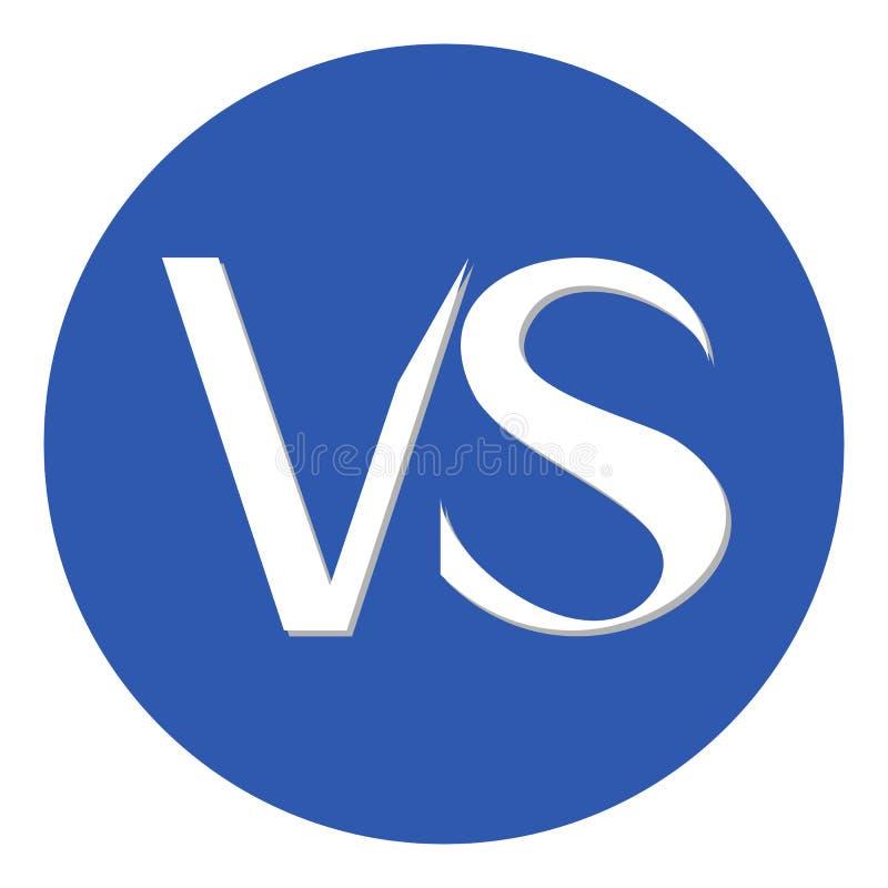 Wojownik versus okrąg wewnątrz ilustracja wektor
