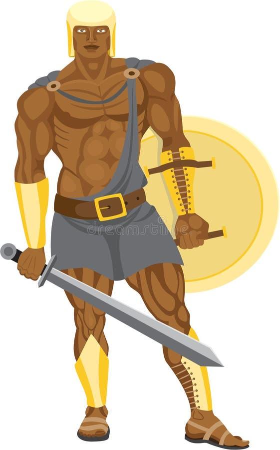 wojownika biel ilustracja wektor