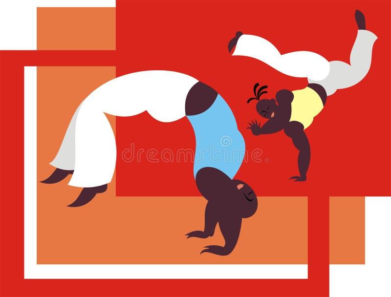 Wojownika capoeira ilustracji