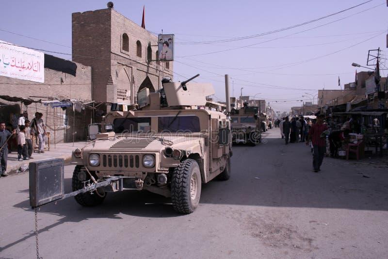 wojska iraku patrol policji zdjęcia stock