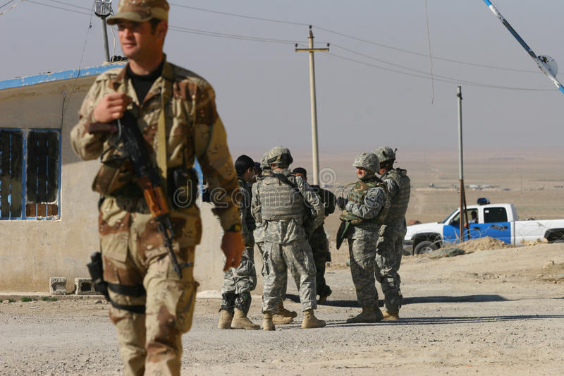 wojska Iraq żołnierze usa zdjęcia stock