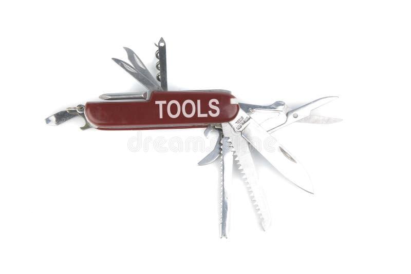 wojska noża marketingu kieszeni czerwony szwajcara narzędzie zdjęcia stock