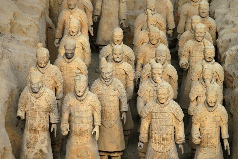 wojska porcelany terakota obrazy stock