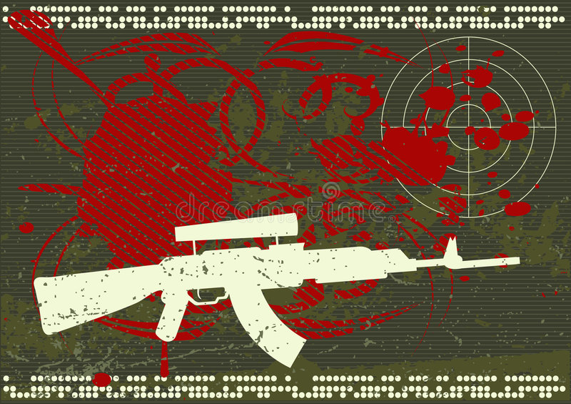wojska tła grunge royalty ilustracja