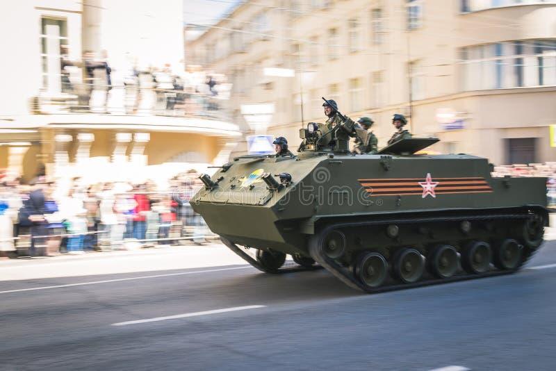 wojska wmarszu parady rosjanina żołnierze zdjęcie stock
