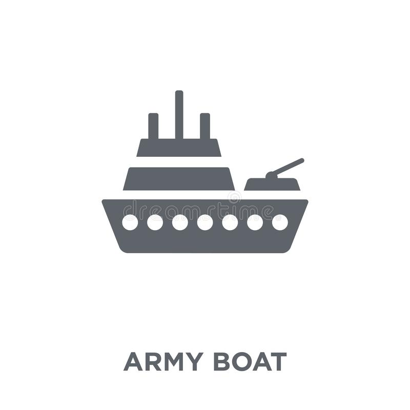 wojsko łódkowata ikona od wojsko kolekcji royalty ilustracja