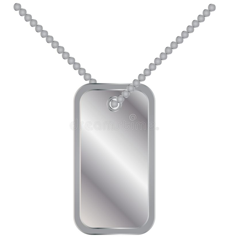 Wojsko żołnierzy odznaki etykietki medalionu metalu łańcuch royalty ilustracja