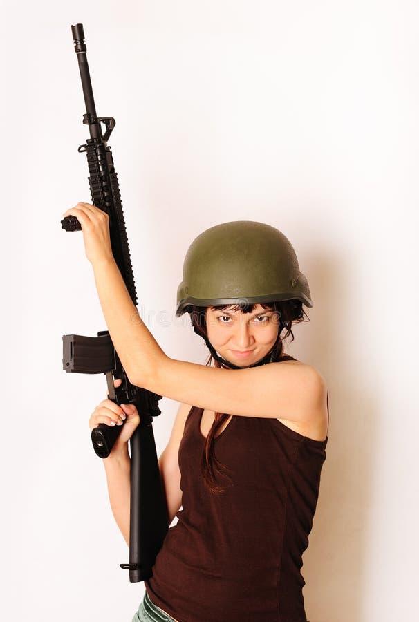 wojsko dziewczyna zdjęcia stock