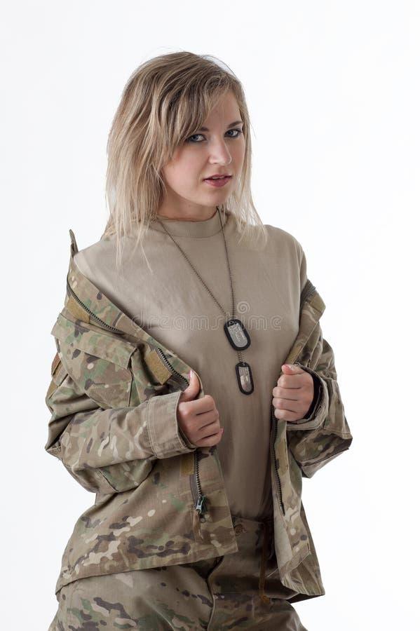 Wojsko dziewczyna 1 zdjęcia stock