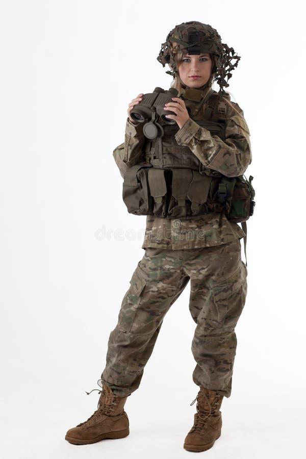 Wojsko dziewczyna 4 obrazy stock