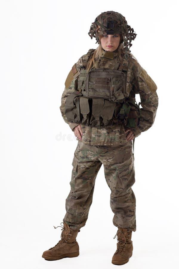 Wojsko dziewczyna 3 zdjęcia royalty free