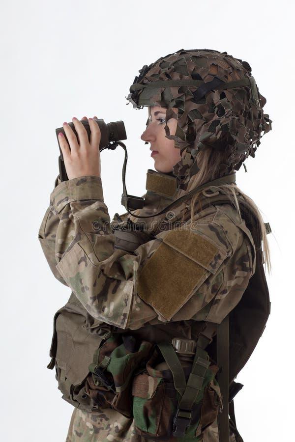 Wojsko dziewczyna 5 fotografia stock