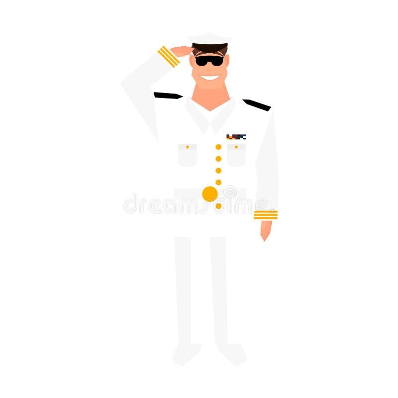 Wojsko generał z ręka gesta salutować Szczęśliwy weterana dnia projekta element ilustracja wektor