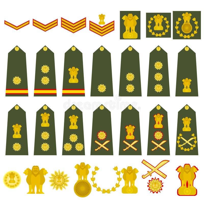Wojsko indiańska insygnia ilustracji