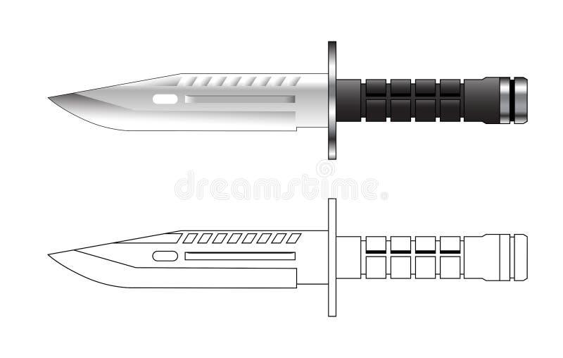 wojsko knief wektor ilustracyjny ilustracja wektor