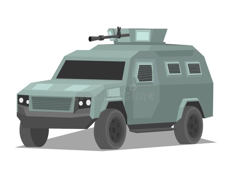 Wojsko militarny opancerzony samochód machiny wojennej ilustracja ilustracja wektor