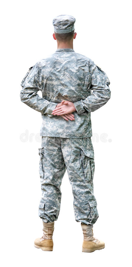 wojsko USA żołnierz w parady spoczynkowej pozyci. obraz royalty free