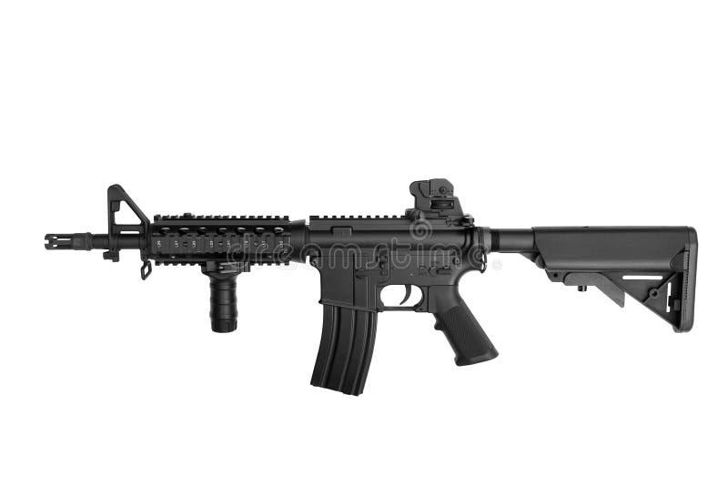 wojsko USA broni M4A1 karabinek odizolowywający na białym tle obrazy royalty free