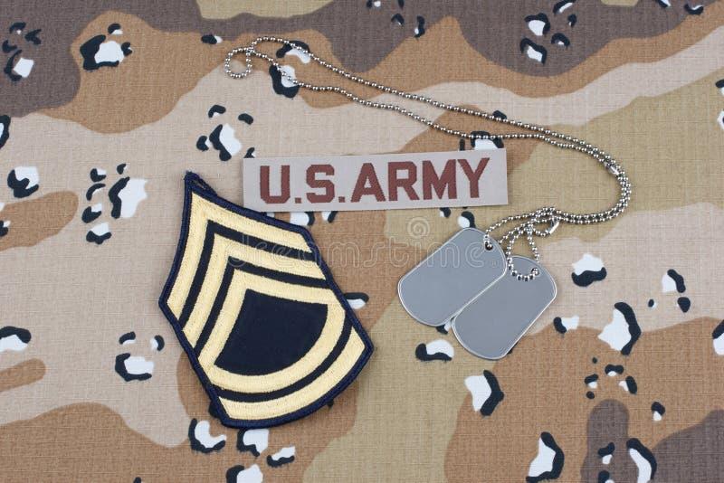 WOJSKO USA mundur z psimi etykietkami fotografia royalty free