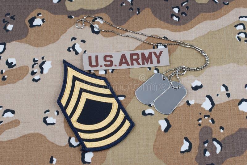 WOJSKO USA mundur z psimi etykietkami zdjęcie royalty free