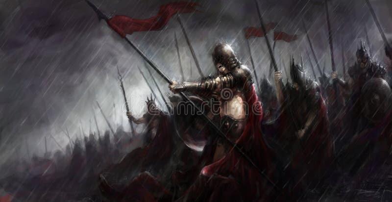 Wojsko w wojnie ilustracja wektor