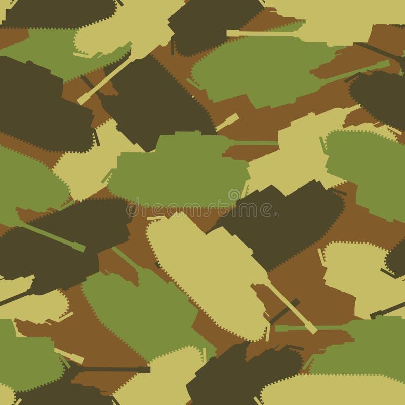 Wojsko zbiornika wzór Ochronny militarny tło wojskowy tr royalty ilustracja