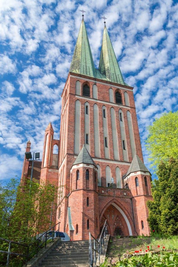 Wojskowego kościół Błogosławiona maryja dziewica królowa Polska i święty zdjęcia stock