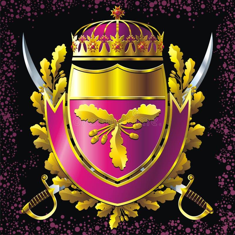 Wojskowego stylu odznaka royalty ilustracja