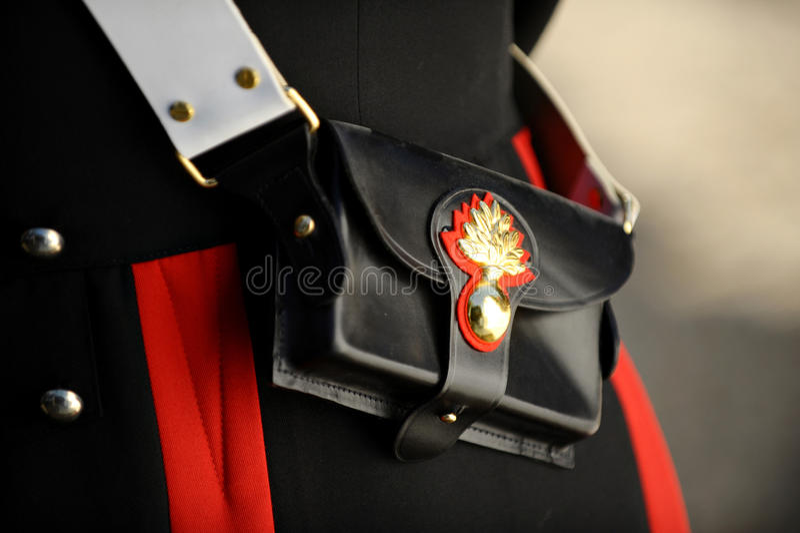 Wojskowego Uniformu szczegół fotografia stock