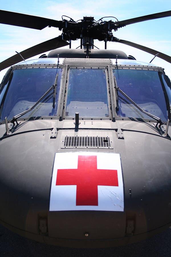 wojskowy helikopter medyczny obraz royalty free