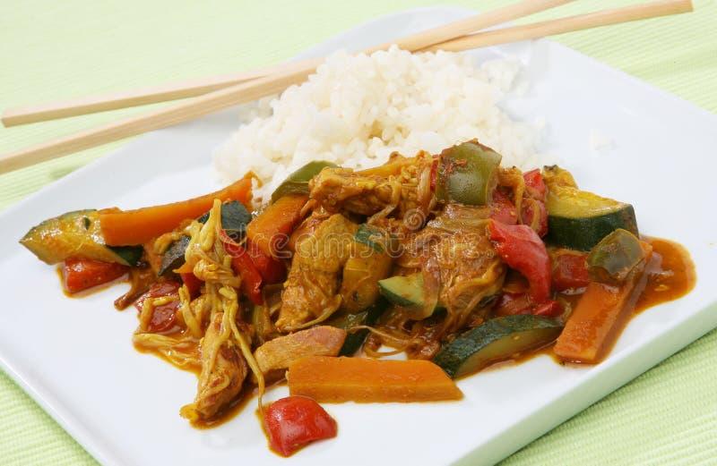 wok еды Азии стоковое фото rf