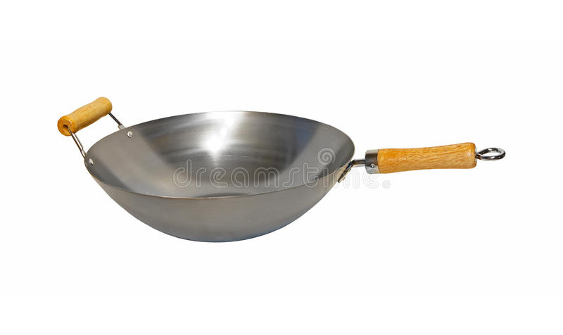 Wok. Pot isolated included clipping path royalty free stock image