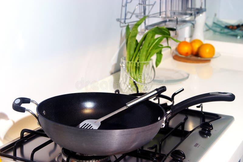 Wok. A wok in the kitchen royalty free stock photos