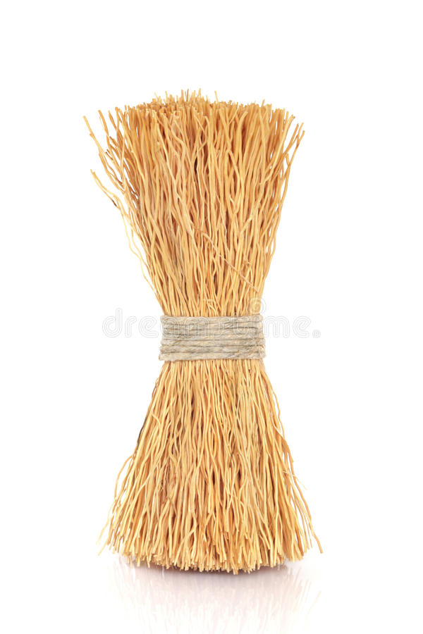 Wok Cleaning Brush royalty free stock photos