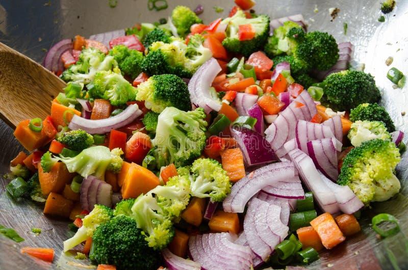 Wok veggies. royalty free stock images