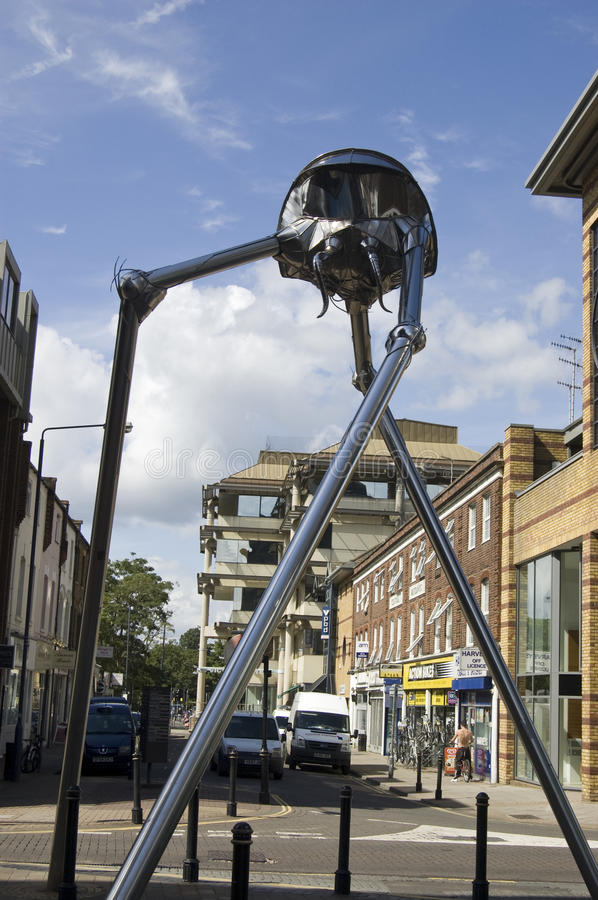 Download Woking Martian Sculpture editorial stock photo. Image of author - 27626473