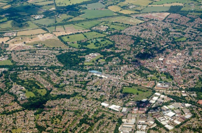 Wokingham, Berkshire - widok z lotu ptaka obraz royalty free