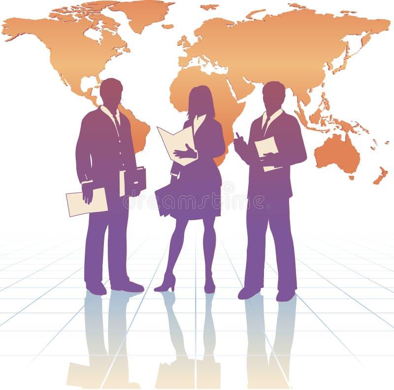 wokoło biznesowego światu ilustracja wektor