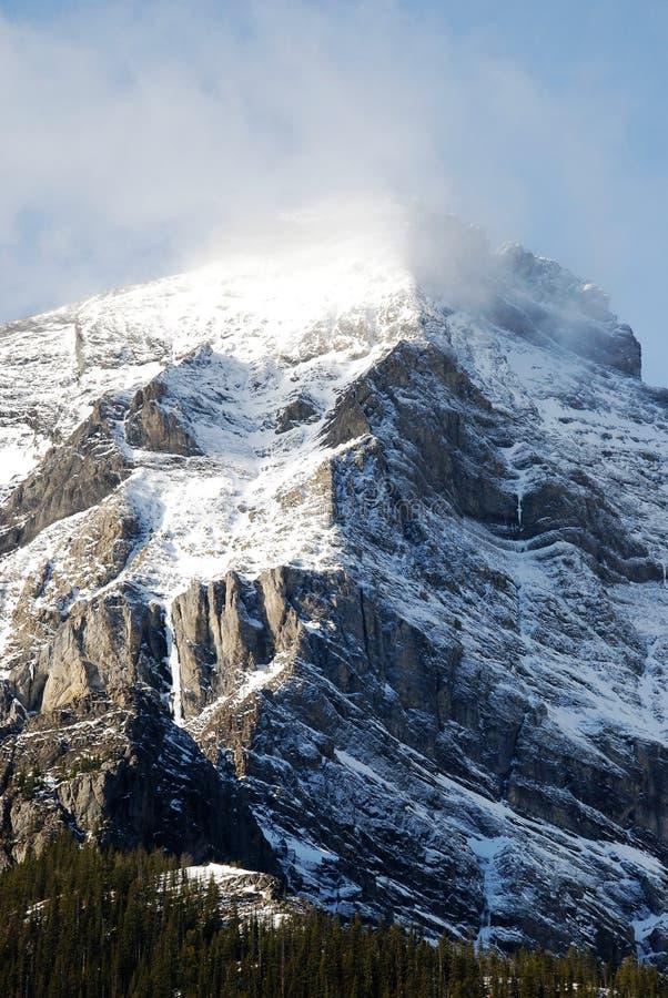 wokoło chmur góry śniegu obraz royalty free