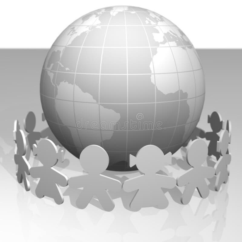 wokoło dzieci światowych royalty ilustracja