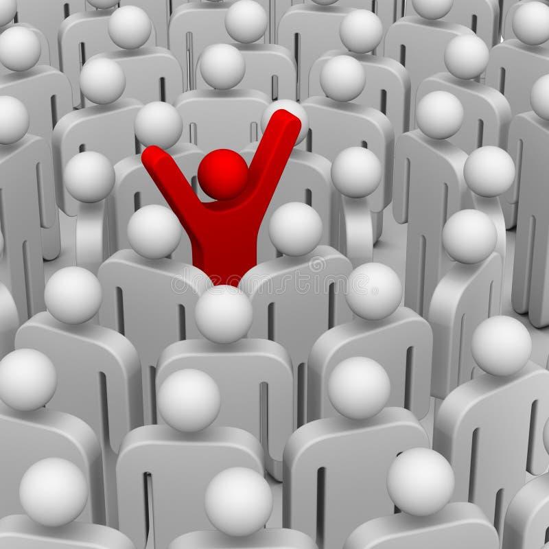 wokoło lidera wiele ludzie ilustracja wektor