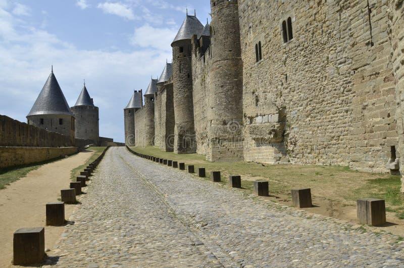 Wokoło ramparts Carcassonne fotografia royalty free